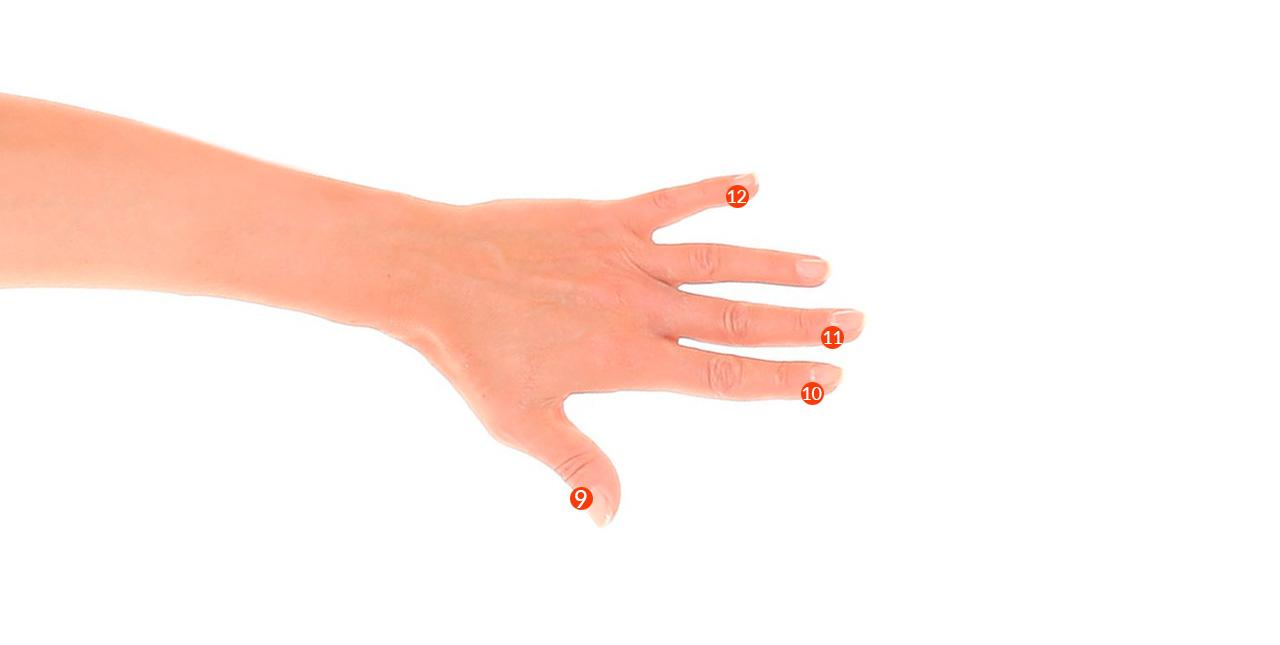 Puntos EFT de la mano. Método Desparejados
